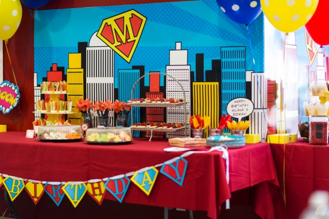 Super Hero Party Packed with Action - Anders Ruff Custom ... Healthy Snacks For Kids On The Go