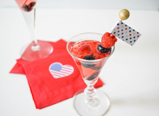 Kid version of 4th of July cocktail