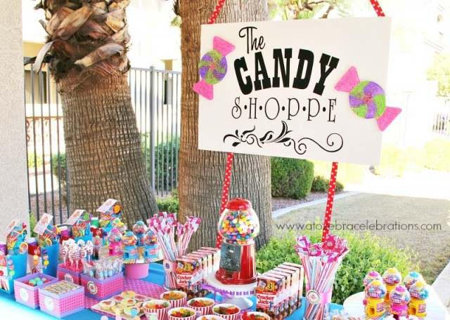 candy shop table