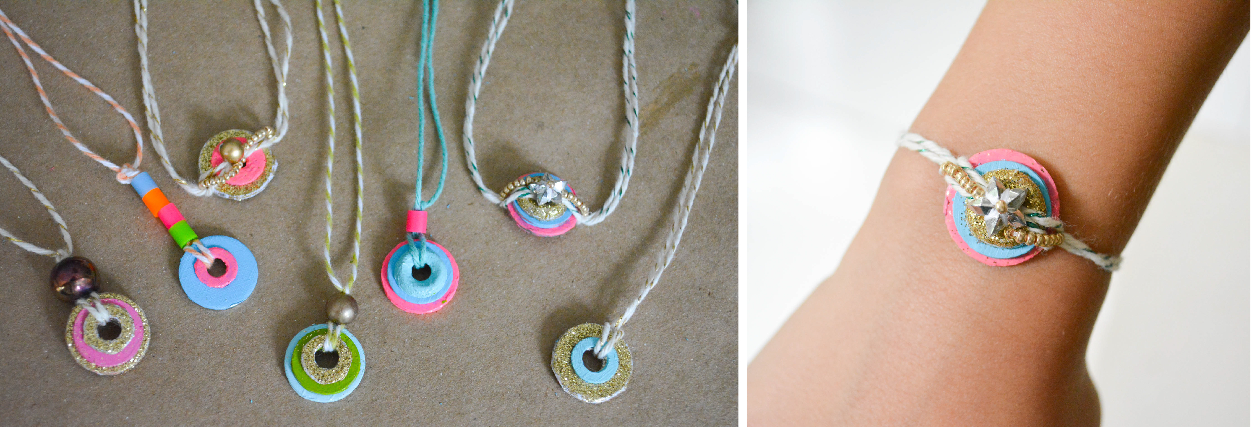 hardware wrapped washer necklaces necklace jewelry id