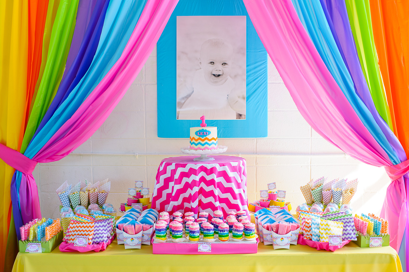 A rainbow 1st birthday party anders ruff custom designs llc for 1st birthday decoration themes