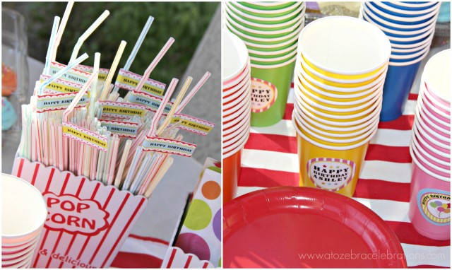 carnival printable party straws