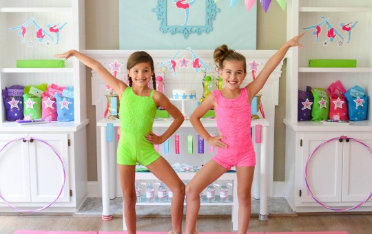 Great Girlie GYMNASTICS Party Ideas