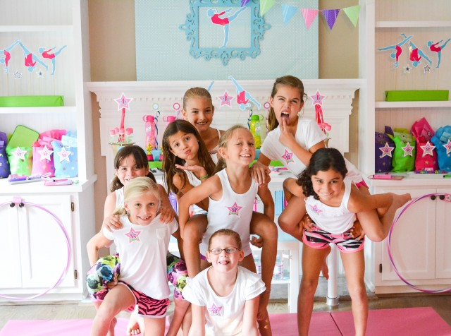 Gymnastic birthday party