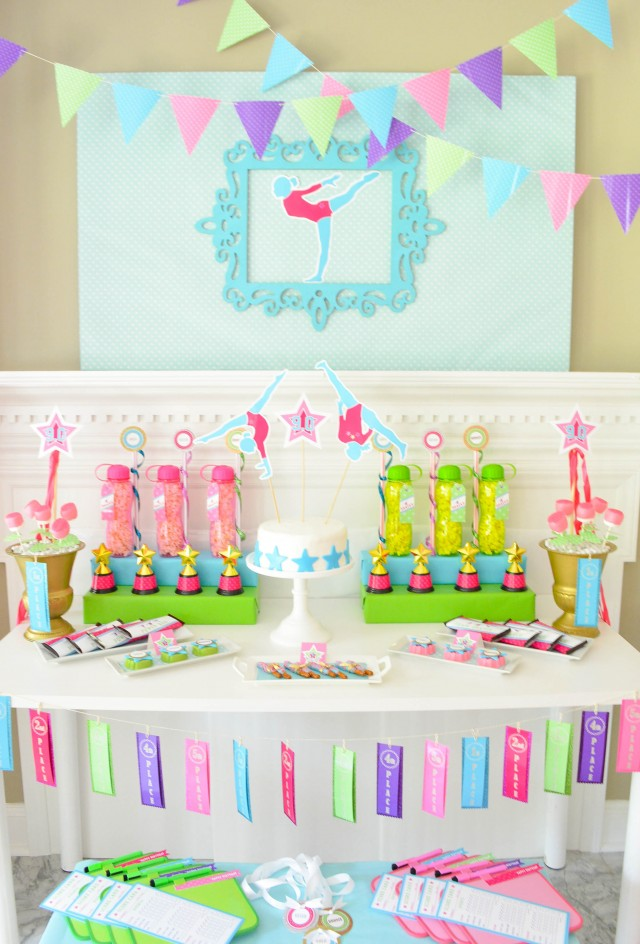 Gymnastics dessert table