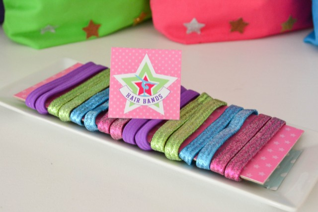 Birthday favor gymnastic hair bands