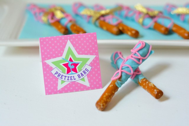 Pretzel bars for gymnastics birthday party