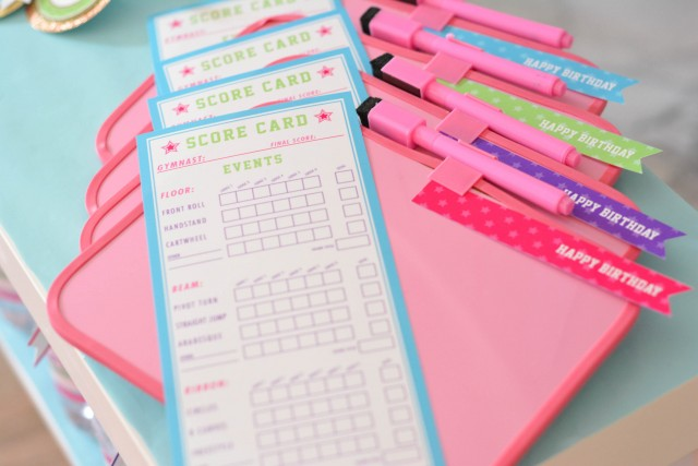 Gymnastics printable score cards and boards
