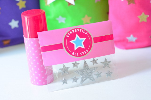 Gymnastics birthday favors