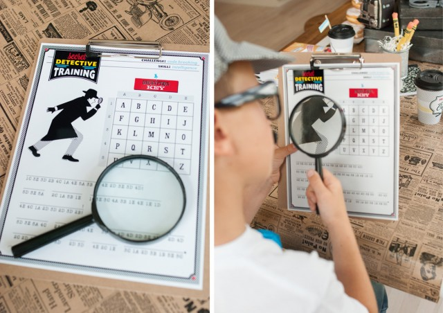 code breaking activity sheet