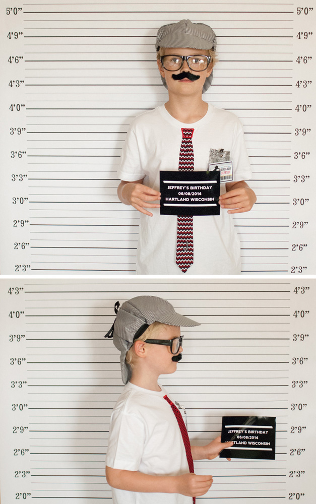 mug shot photobooth backdrop