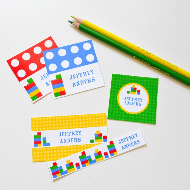 lego editable printable labels