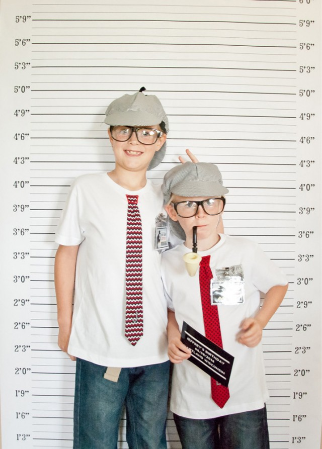 detective party photo booth
