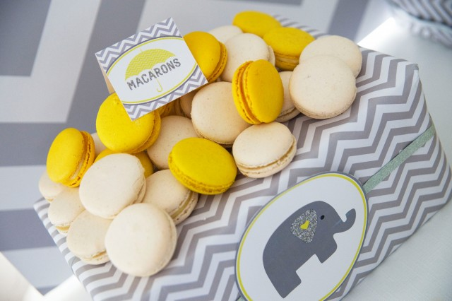 elephant baby shower macarons