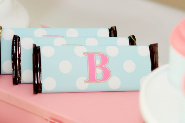 Monogram candy bar wrappers