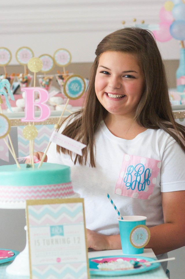 Monogram slumber birthday party