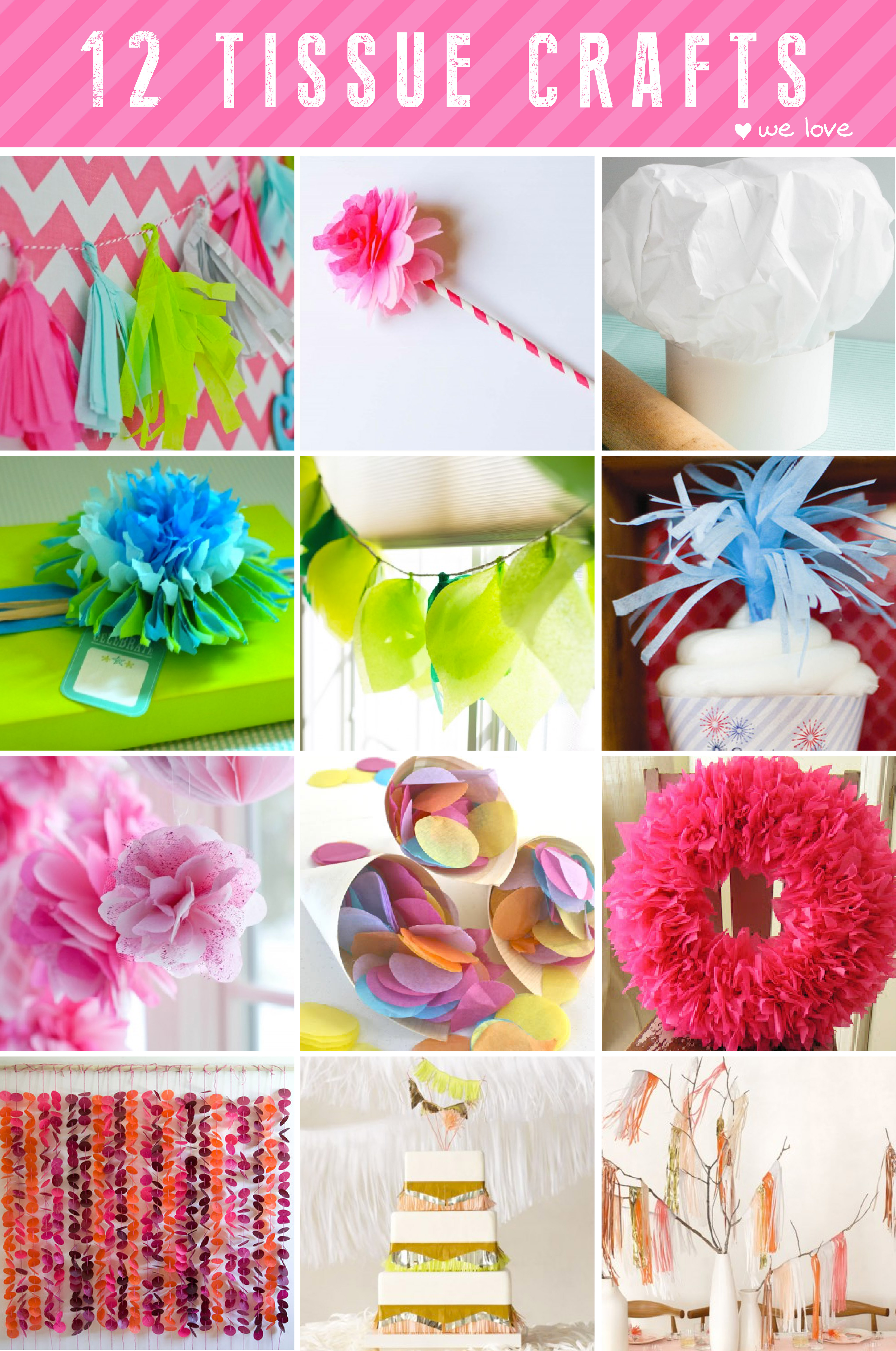 paper tissue As promised here's the tutorial for making tissue paper pom poms surprisingly quick to put together and they add a burst of color to any room or party.