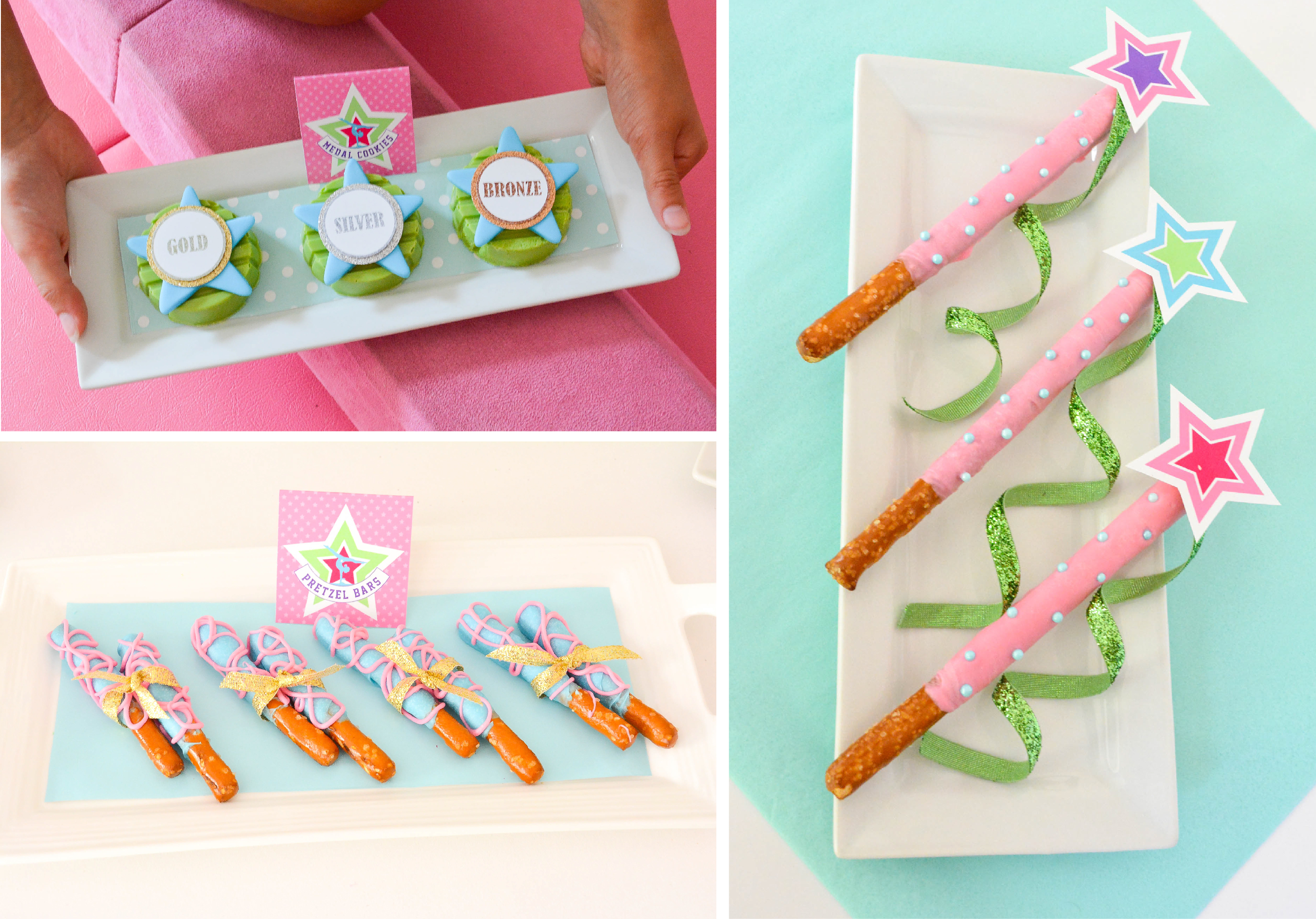 Gymnastics Birthday Party Decorations Ruff Draft Chocolate Pretzel Gymnastics Ribbon Stick Dessert