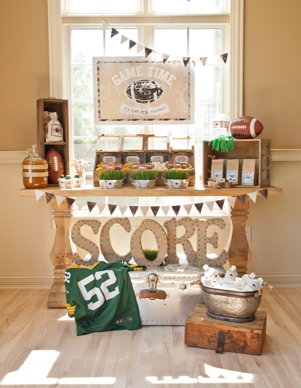 football party dessert table