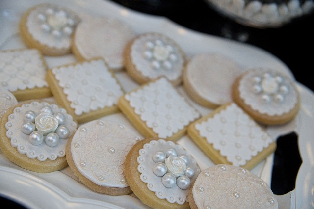 Decorated cookies great for wedding or sophisticated celebration