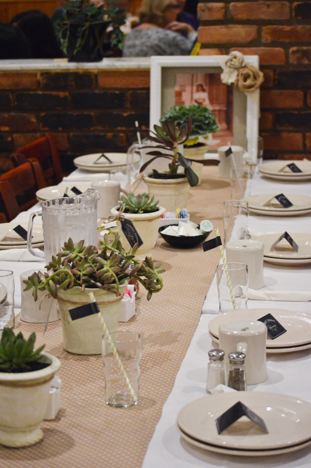 anniversary party table