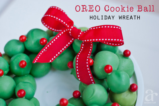 oreo cookie wreath
