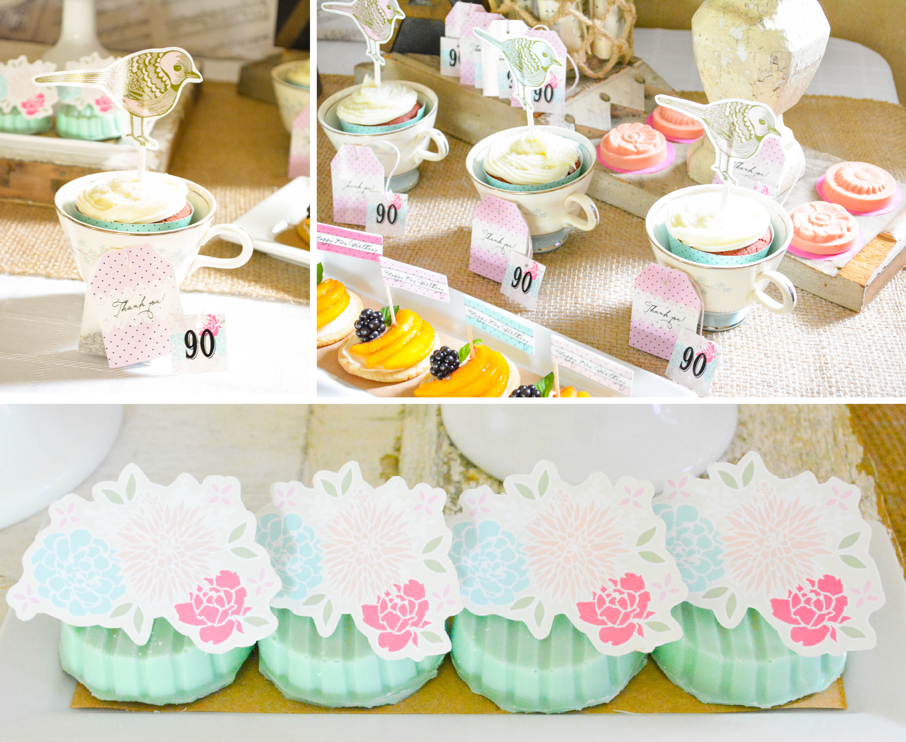 A Shabby Chic Vintage Rose 90th Birthday Celebration ...