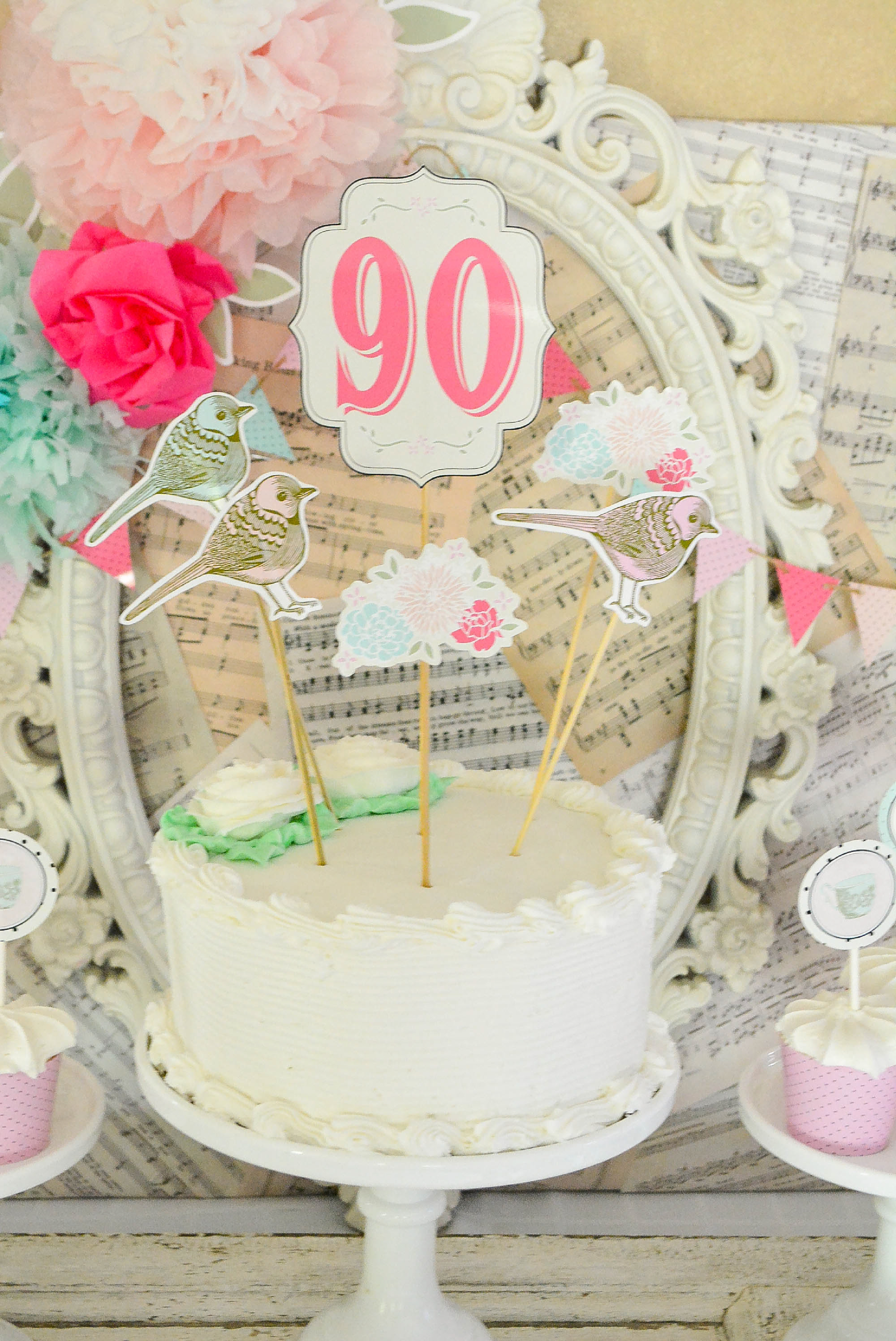 A Shabby Chic Vintage Rose 90th Birthday Celebration - Anders Ruff ...
