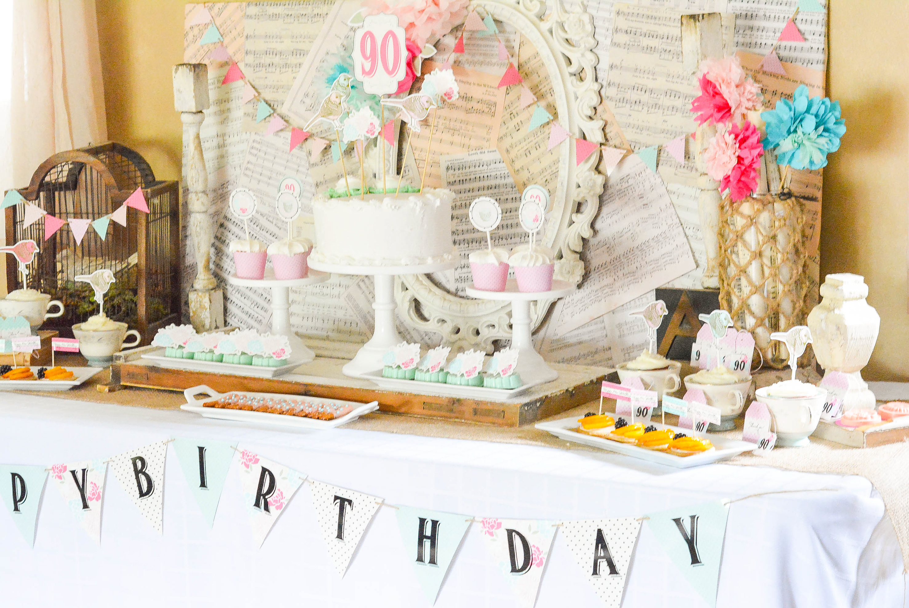 A Shabby Chic Vintage Rose 90th Birthday Celebration