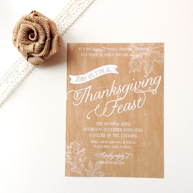 Friendsgiving Ideas Thanksgiving Inspiration Anders Ruff – Thanksgiving Party Invite