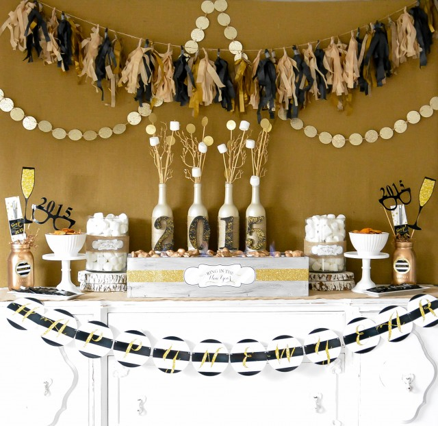 party rustic glam new years eve party vintage glam new years eve party ...