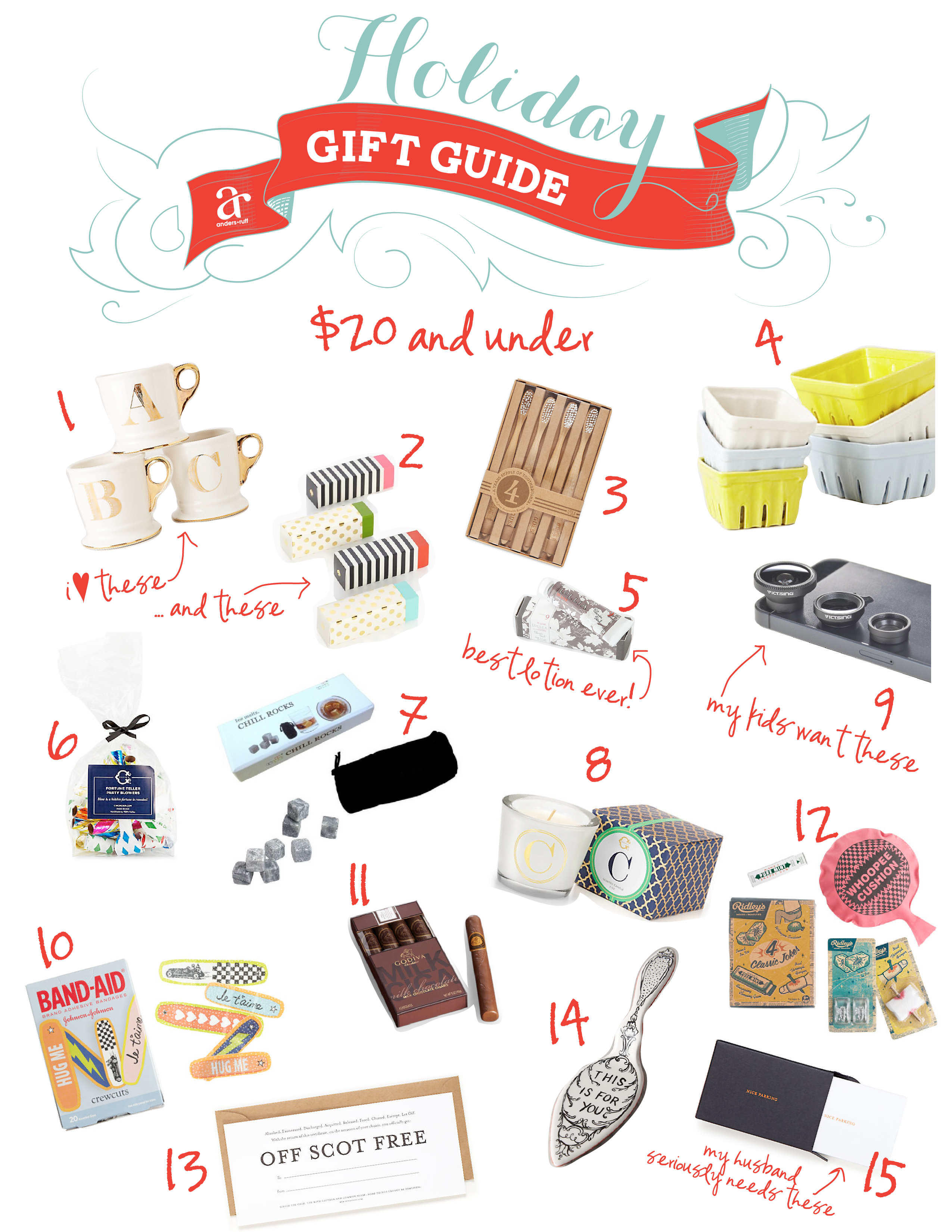 Unisex Gifts Under 20 ruff draft: holiday gift guide - $20 and under - anders ruff