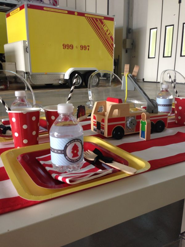 fire truck birthday party