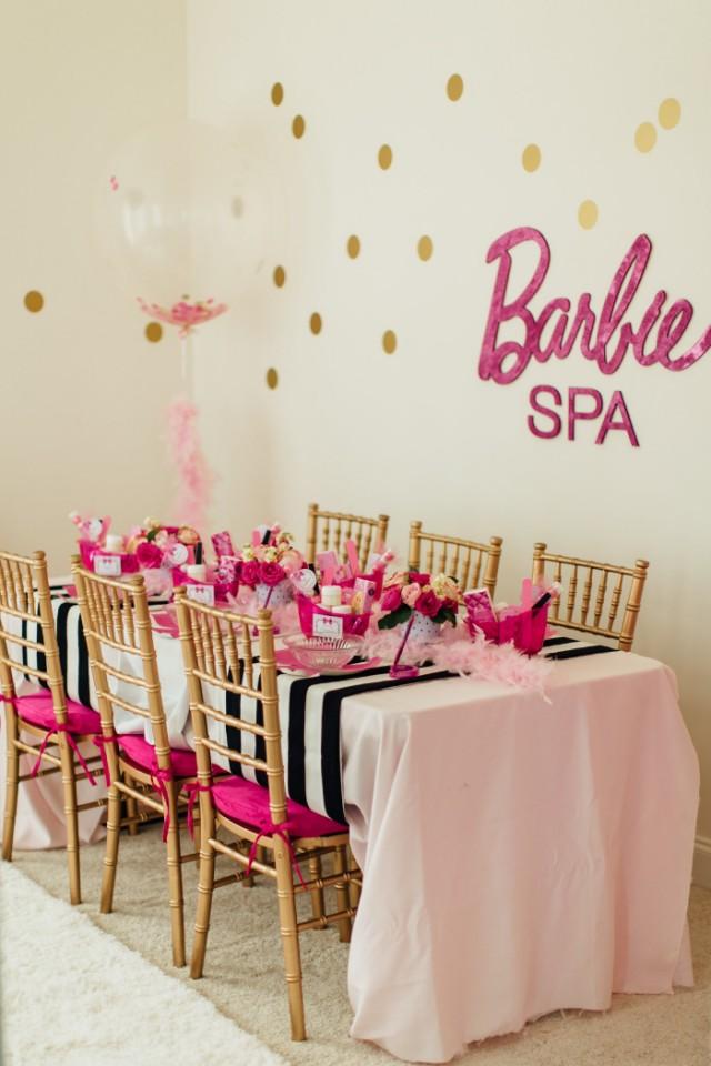 Glam Barbie Spa Party Anders Ruff Custom Designs Llc