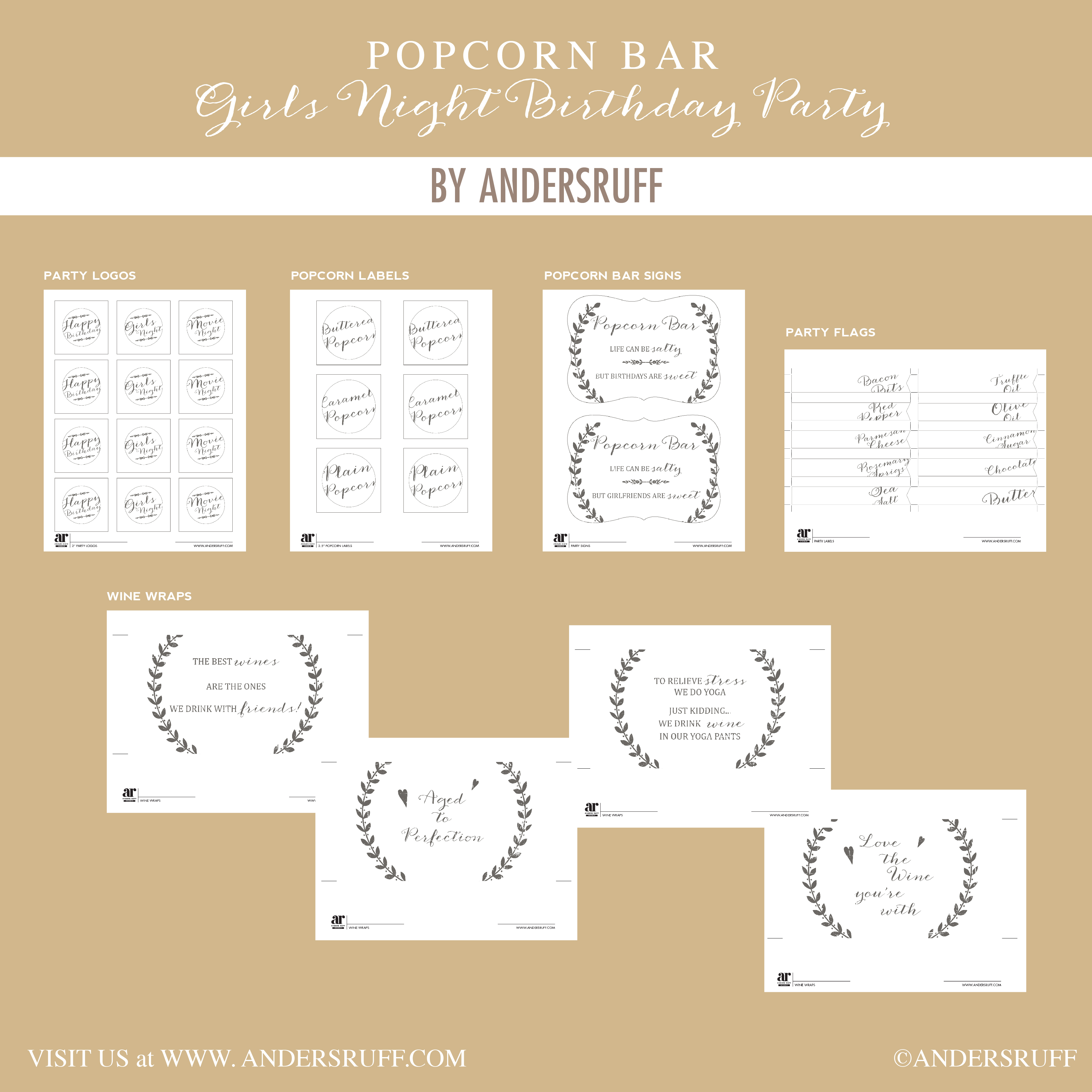 Ruff Draft Popcorn Bar With Craft Paper Accents Anders