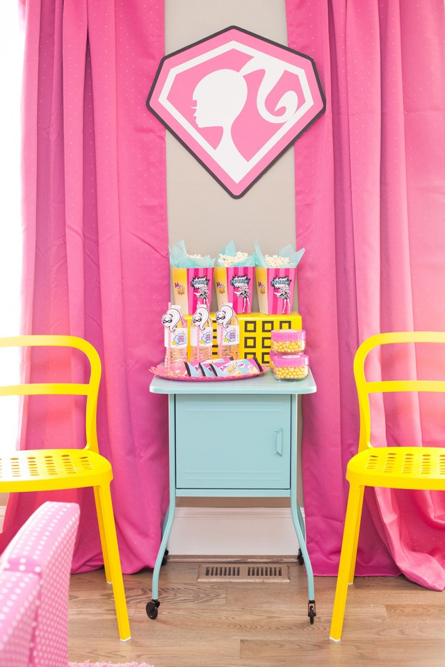 barbie sitting snack area