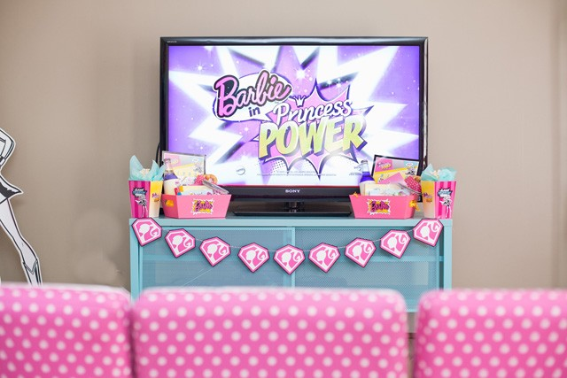 barbie super hero viewing party