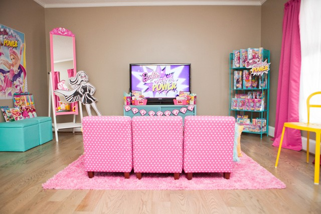 barbie viewing party area