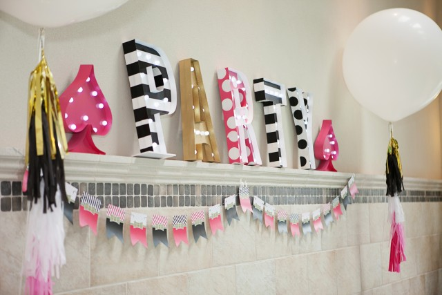 Kate Spade Inspired Pool Party