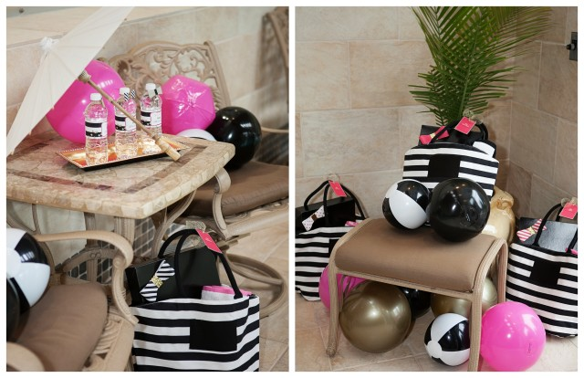 Kate Spade Inspired Pool Party collage 1
