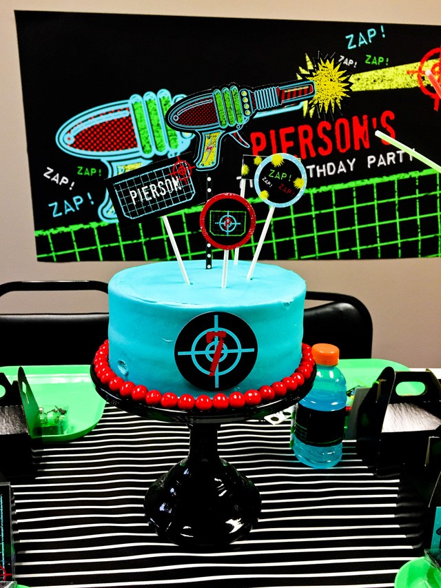 Birthday Cake Toppers Laser Tag