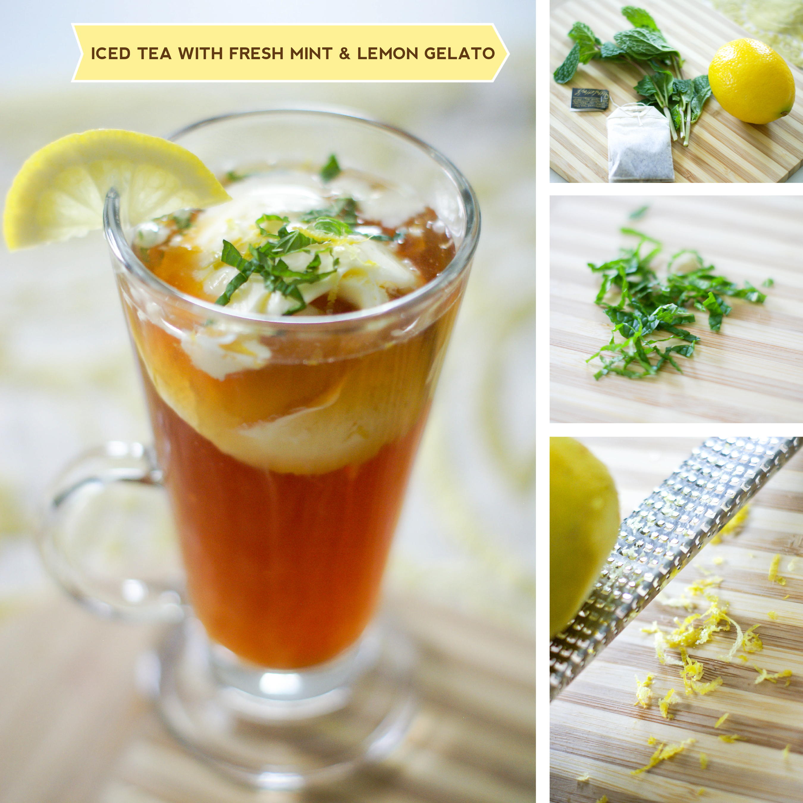 Ice Tea with Fresh Mint and Lemon Gelato for your Kentucky ...