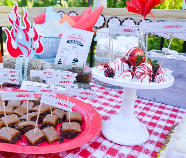 Desserts for smokin hot birthday party