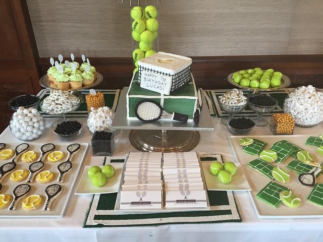 Tennis Ball Birthday Cake