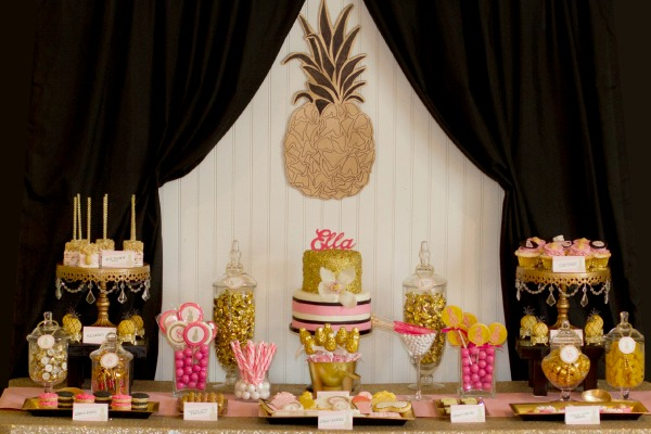 Spa Party with a Pineapple theme