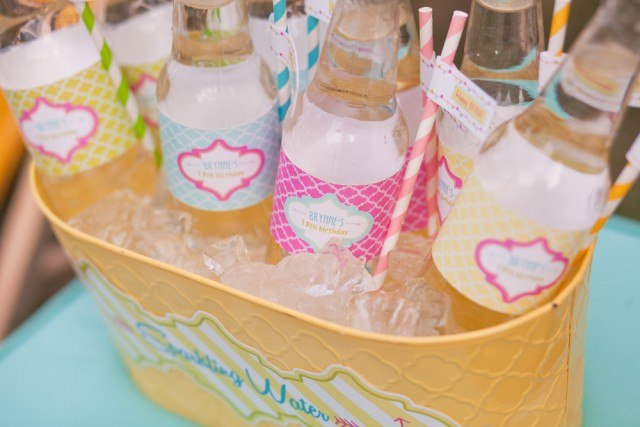 Printable drink wraps for water bottles