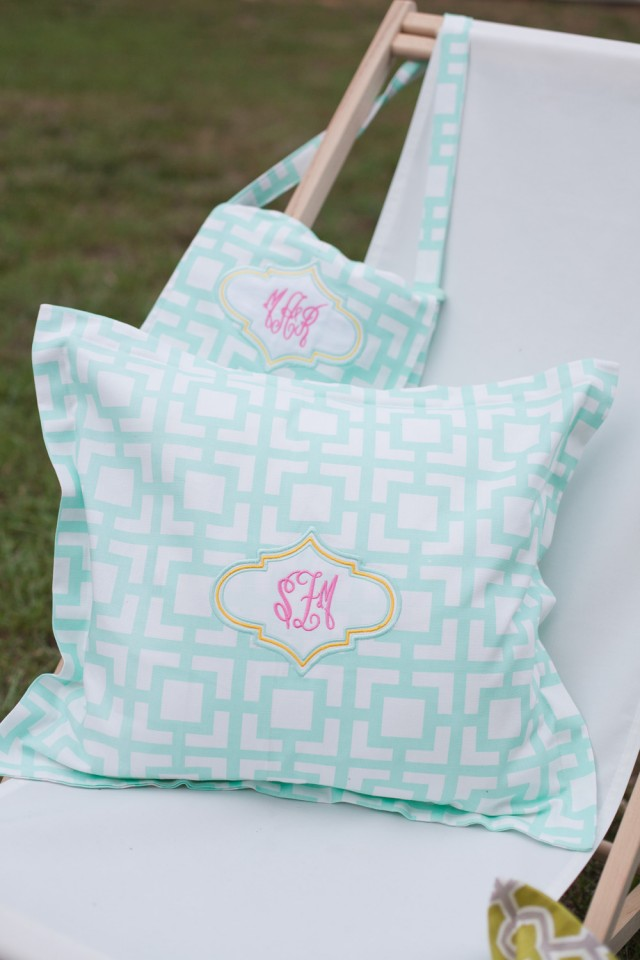 monogram pillows by great stitch