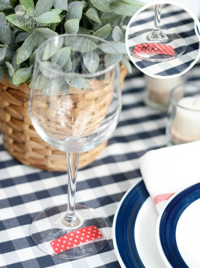 Labor-Day-Party-by-PartiesforPennies.com-washi-tape-glass-markers