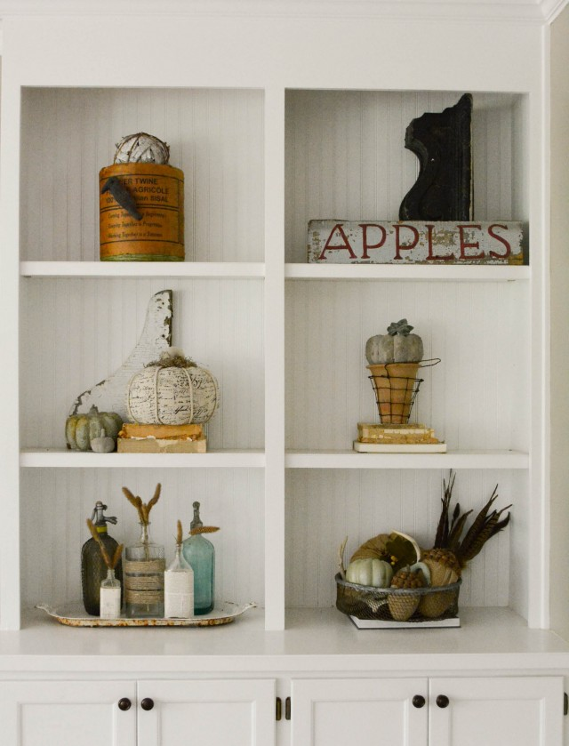 Decorations for fall shelves