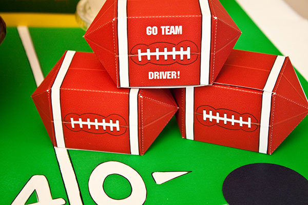 Football favor boxes